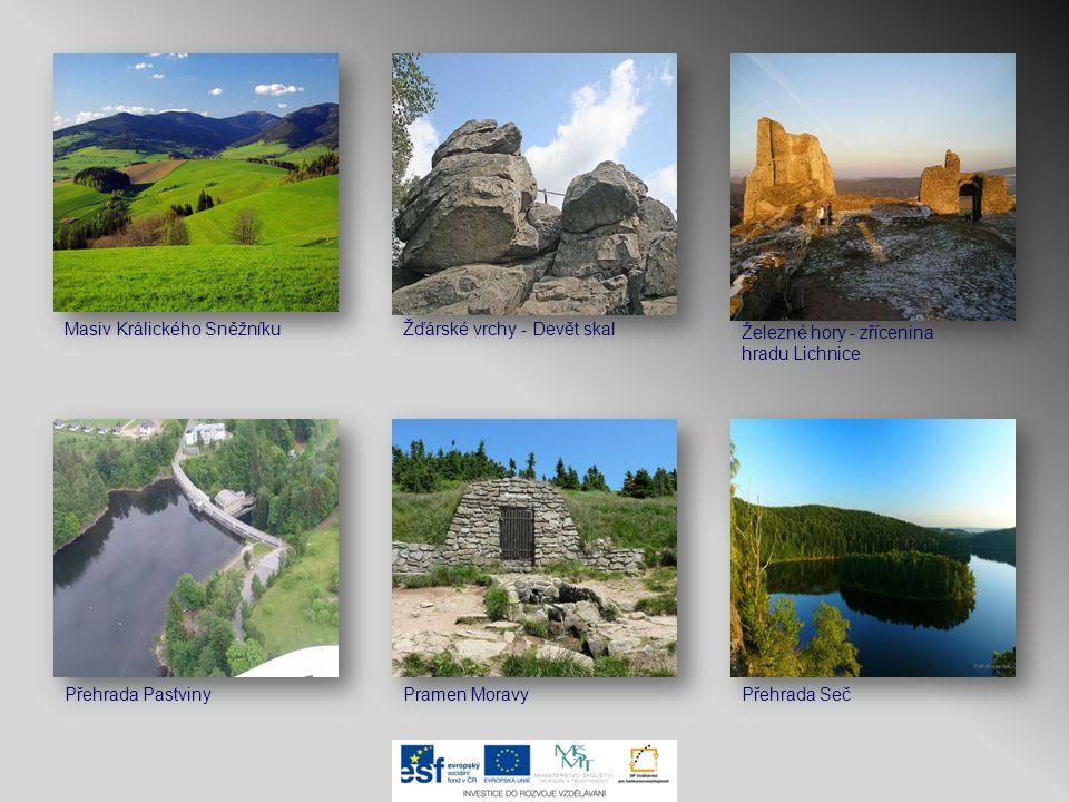 Železné hory - zřícenina hradu Lichnice