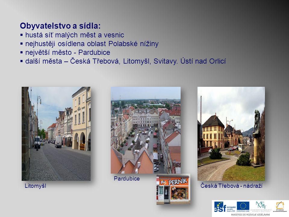 Obyvatelstvo a sídla: hustá síť malých měst a vesnic