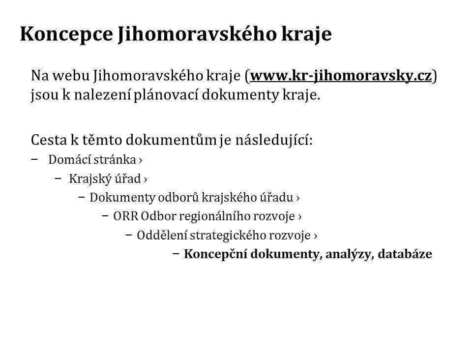 Koncepce Jihomoravského kraje