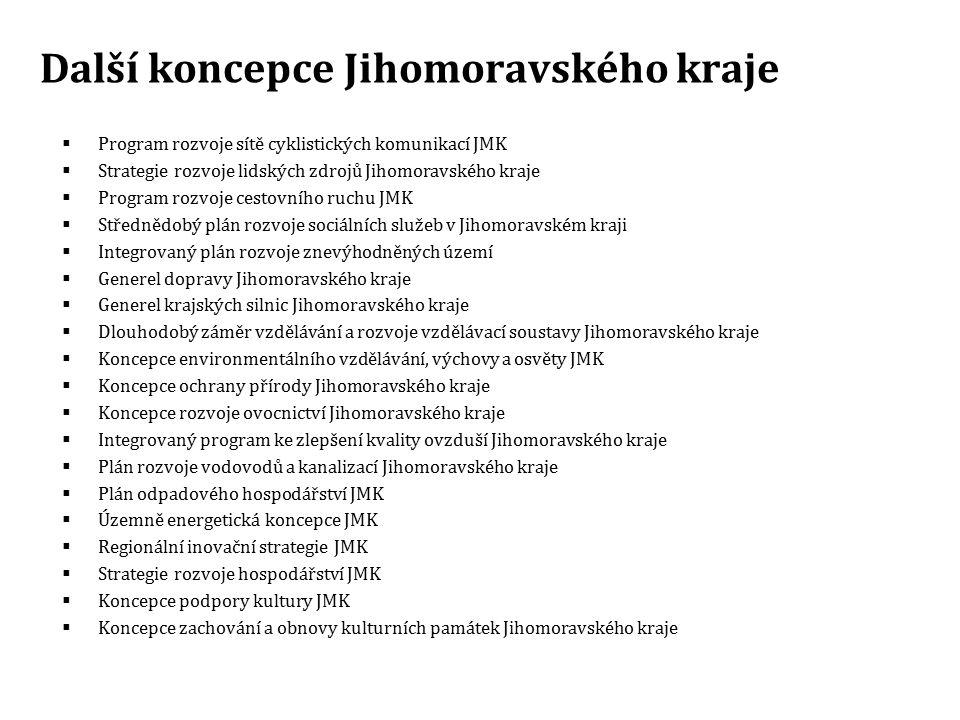 Další koncepce Jihomoravského kraje