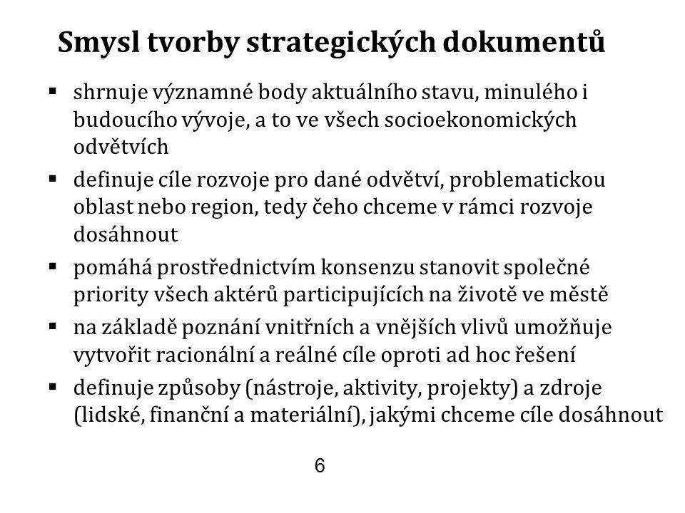 Smysl tvorby strategických dokumentů