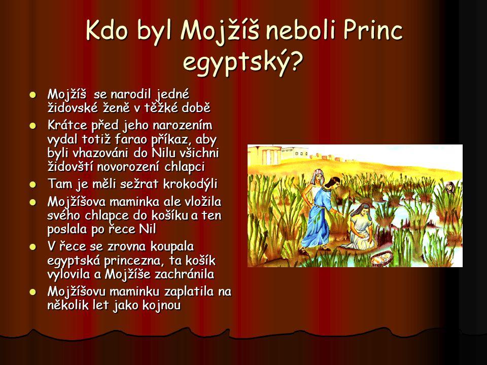 Kdo byl Mojžíš neboli Princ egyptský