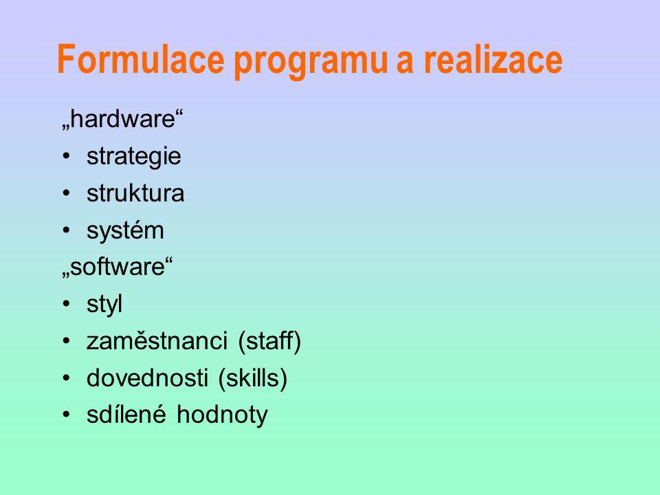 Formulace programu a realizace