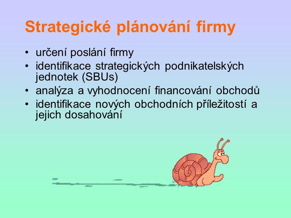 Strategické plánování firmy