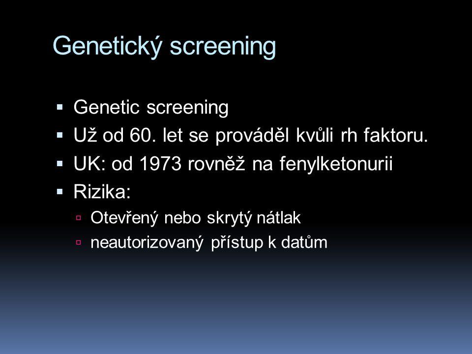 Genetický screening Genetic screening