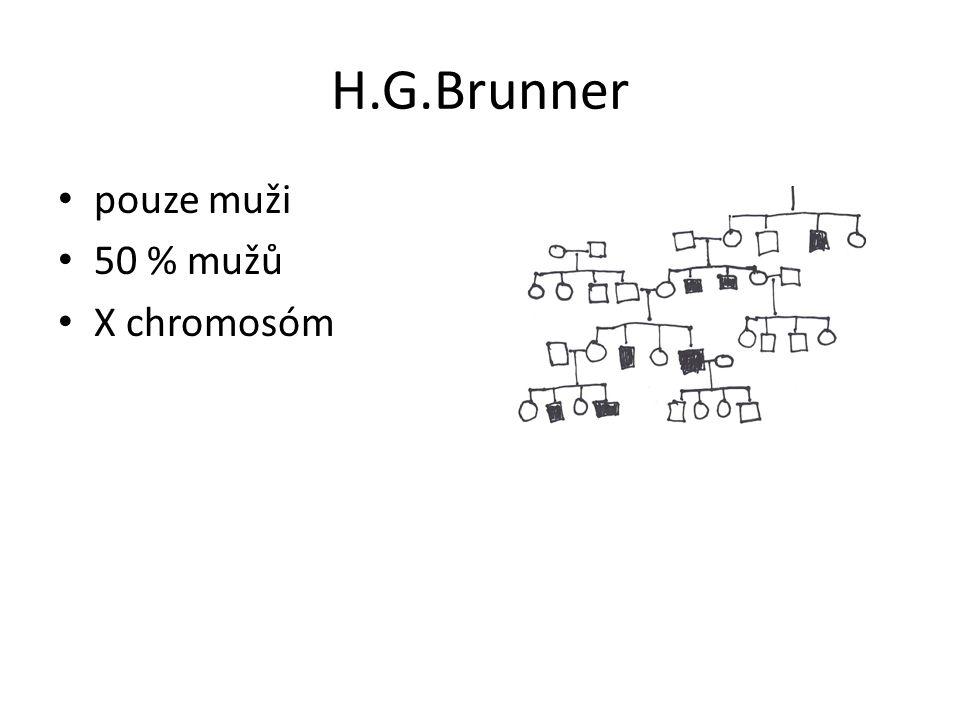 H.G.Brunner pouze muži 50 % mužů X chromosóm