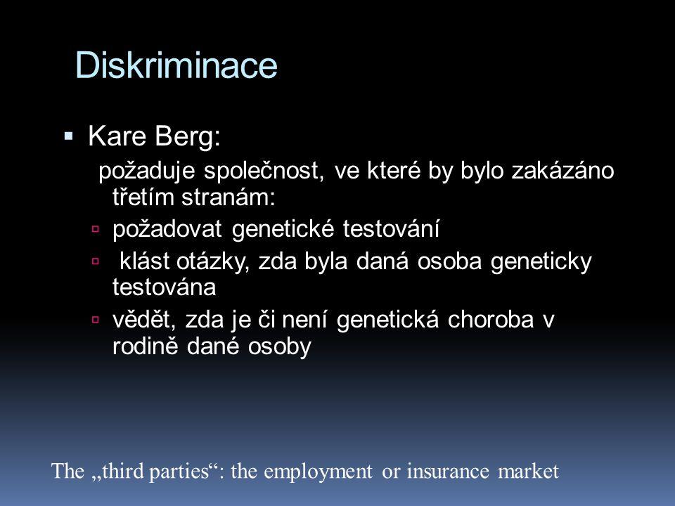 Diskriminace Kare Berg: