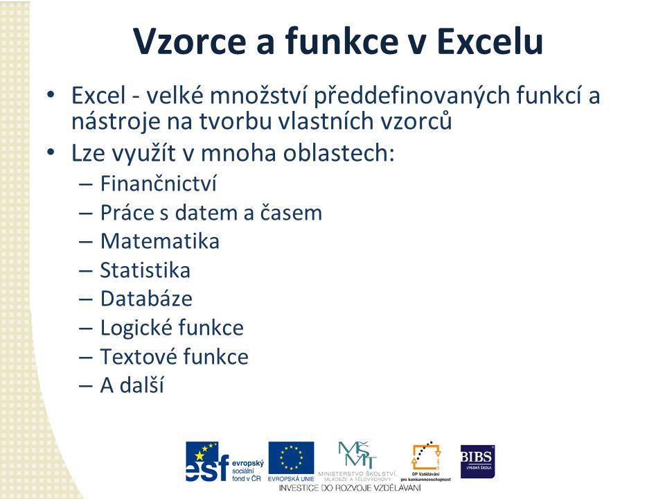 Vzorce a funkce v Excelu