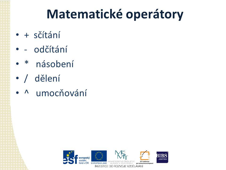 Matematické operátory