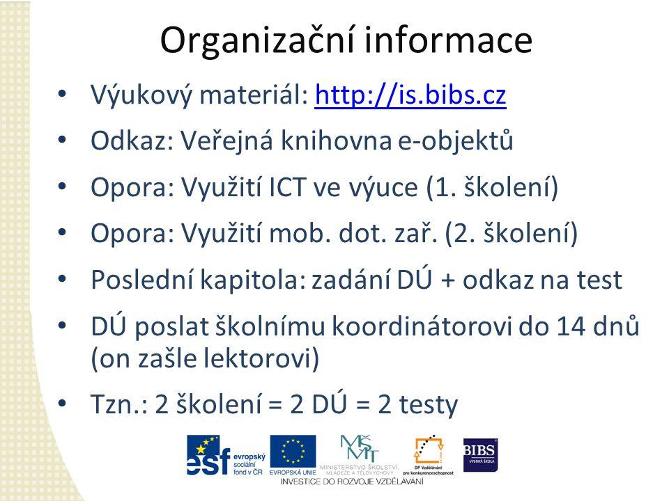 Organizační informace