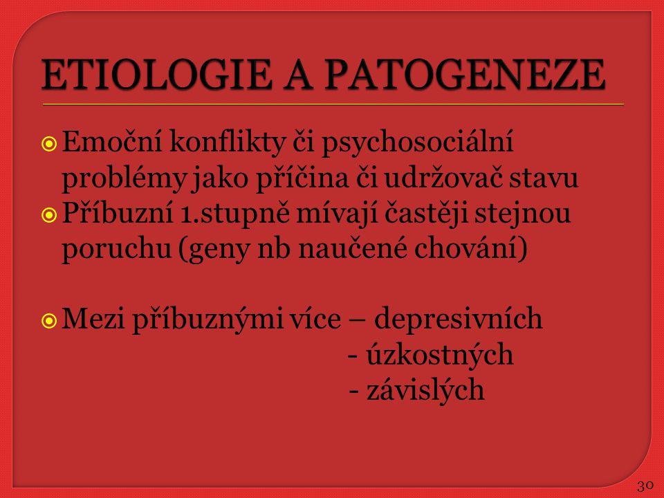 ETIOLOGIE A PATOGENEZE