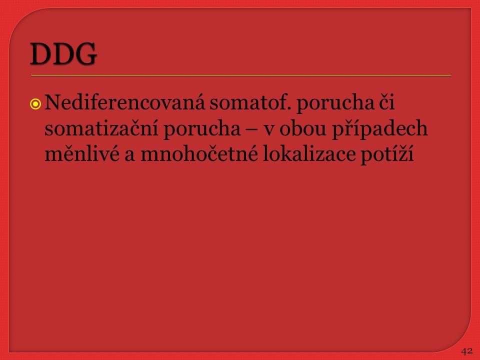 DDG Nediferencovaná somatof.