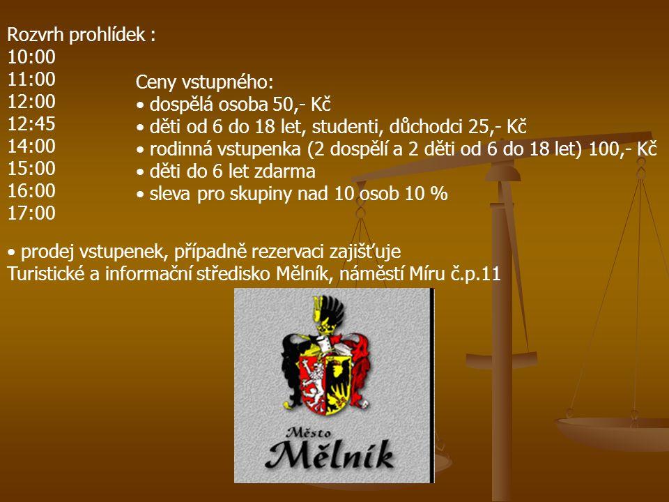 Turistické a informační středisko Mělník, náměstí Míru č.p.11