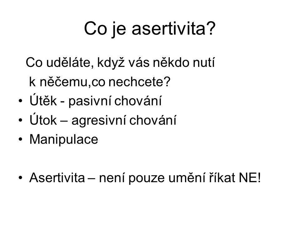 Co je asertivita Co uděláte, když vás někdo nutí