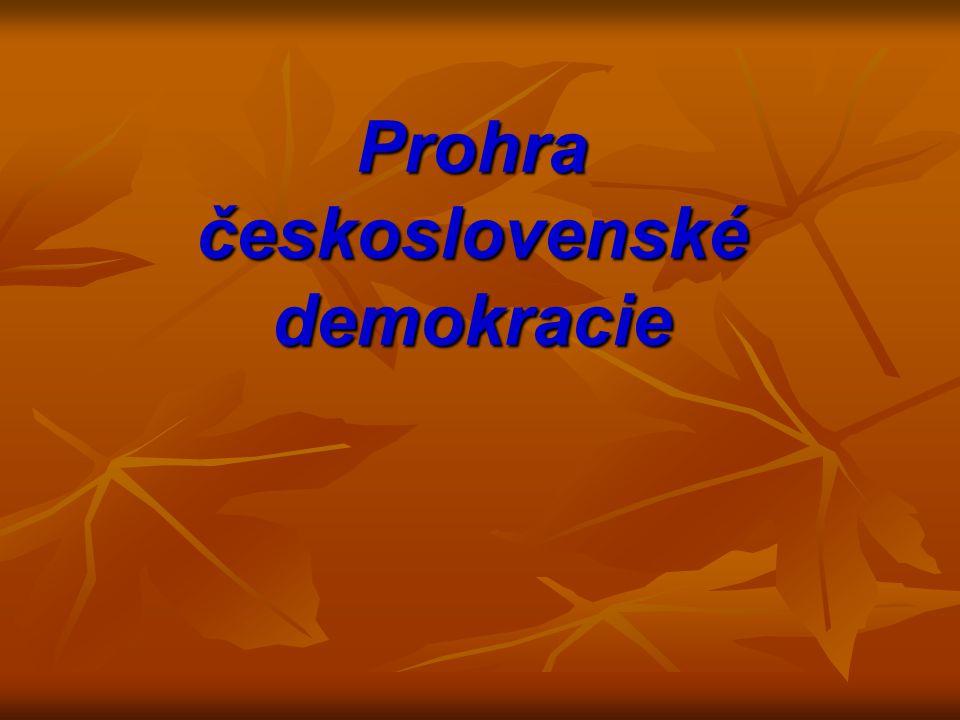 Prohra československé demokracie