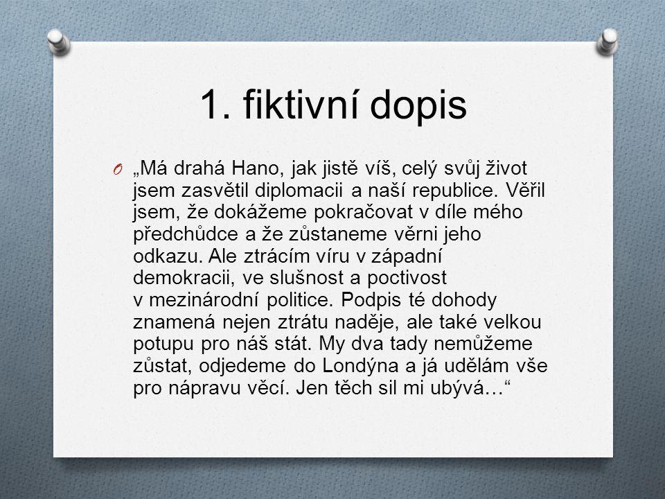 1. fiktivní dopis