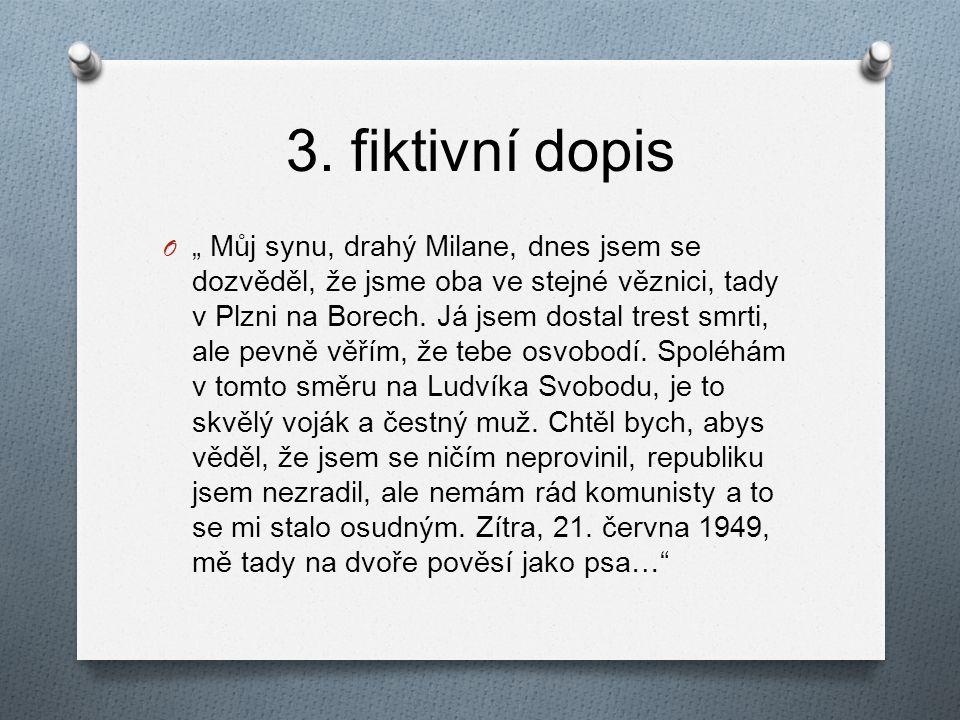 3. fiktivní dopis