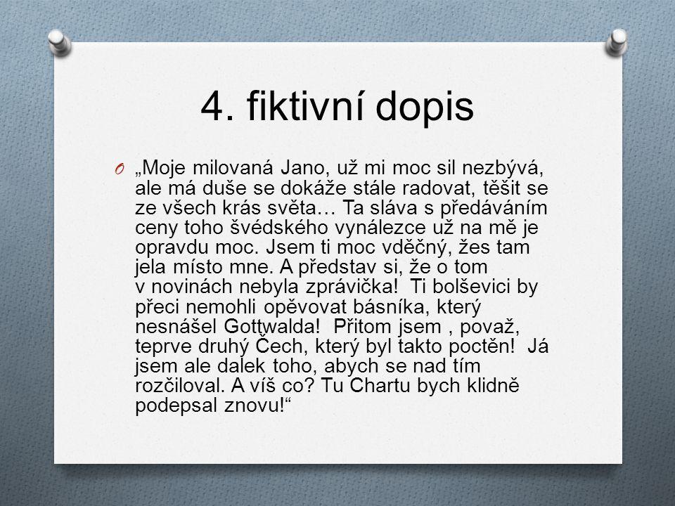 4. fiktivní dopis