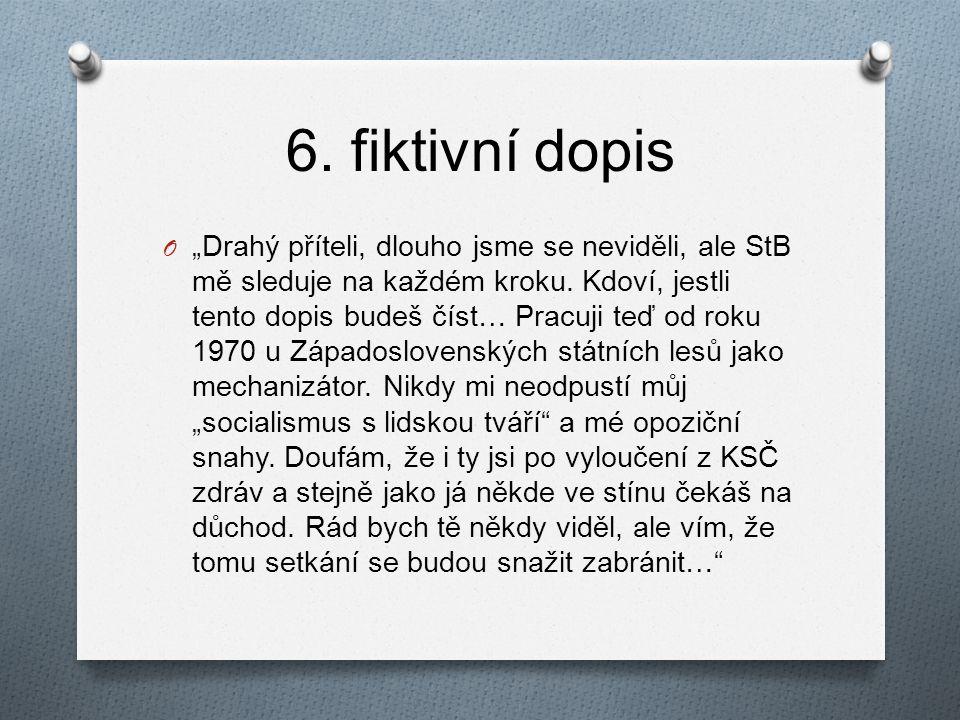 6. fiktivní dopis