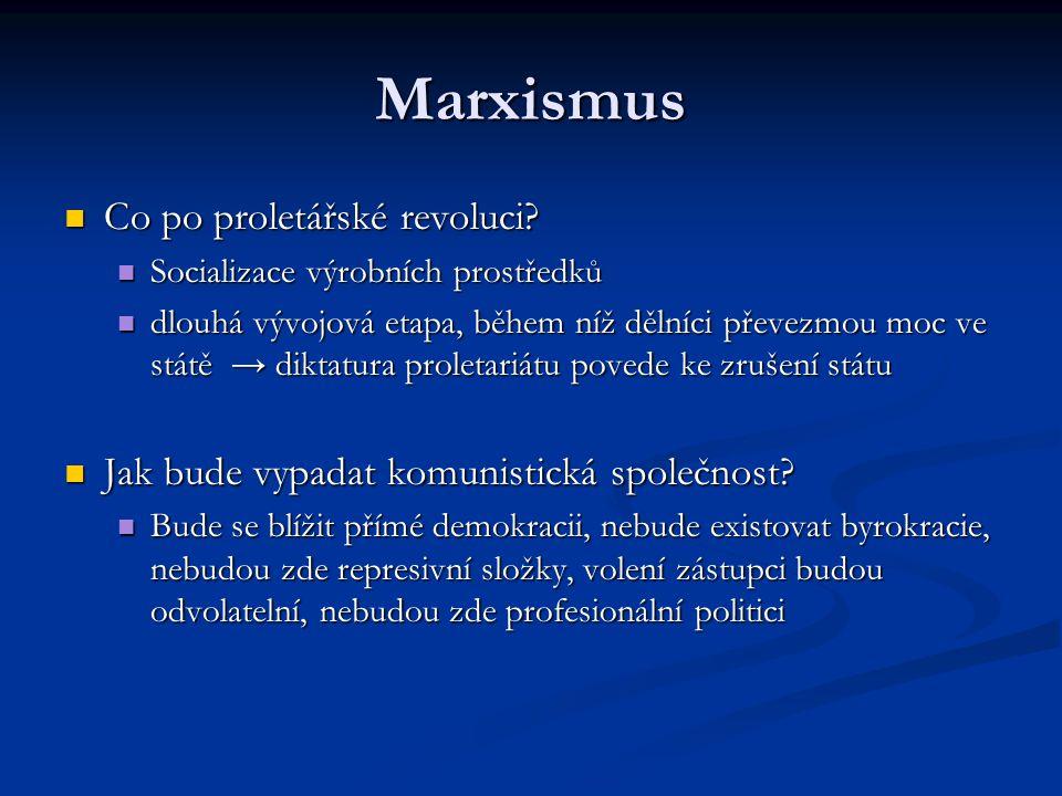 Marxismus Co po proletářské revoluci