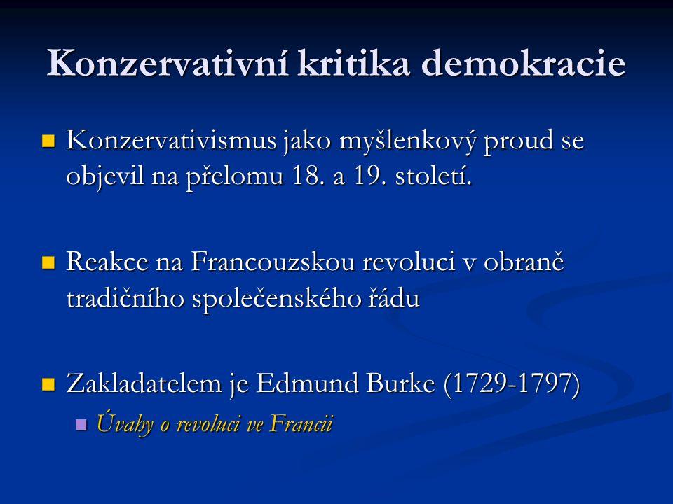 Konzervativní kritika demokracie