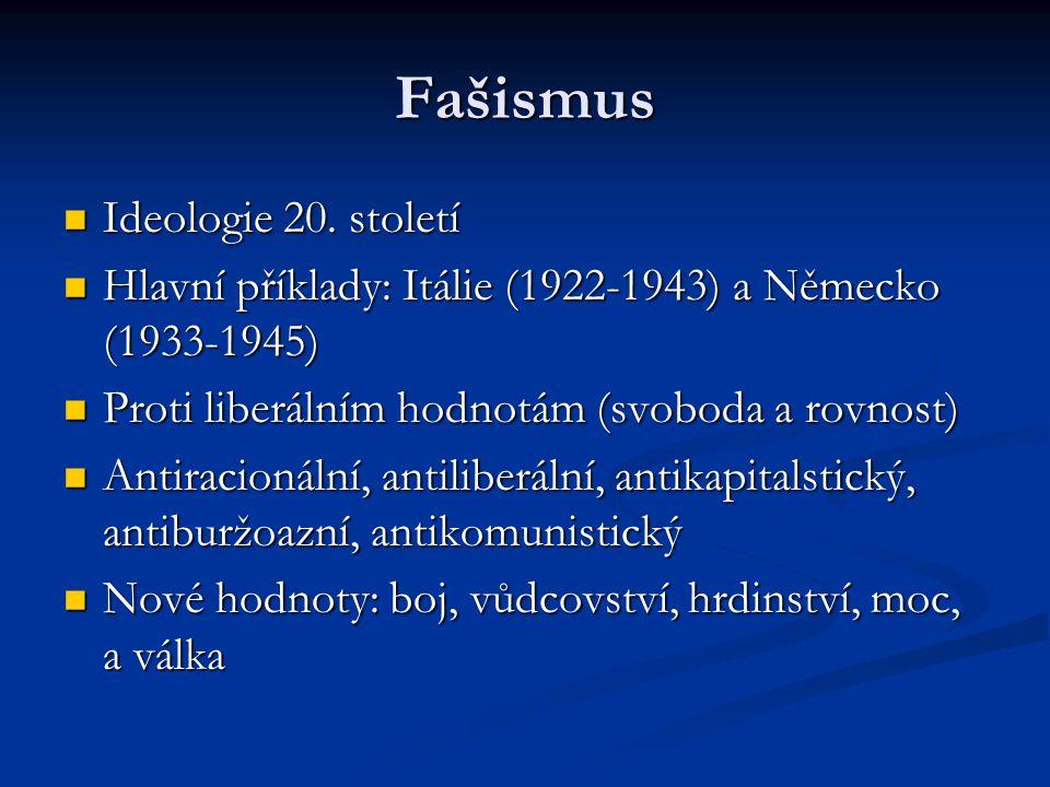 Fašismus Ideologie 20. století