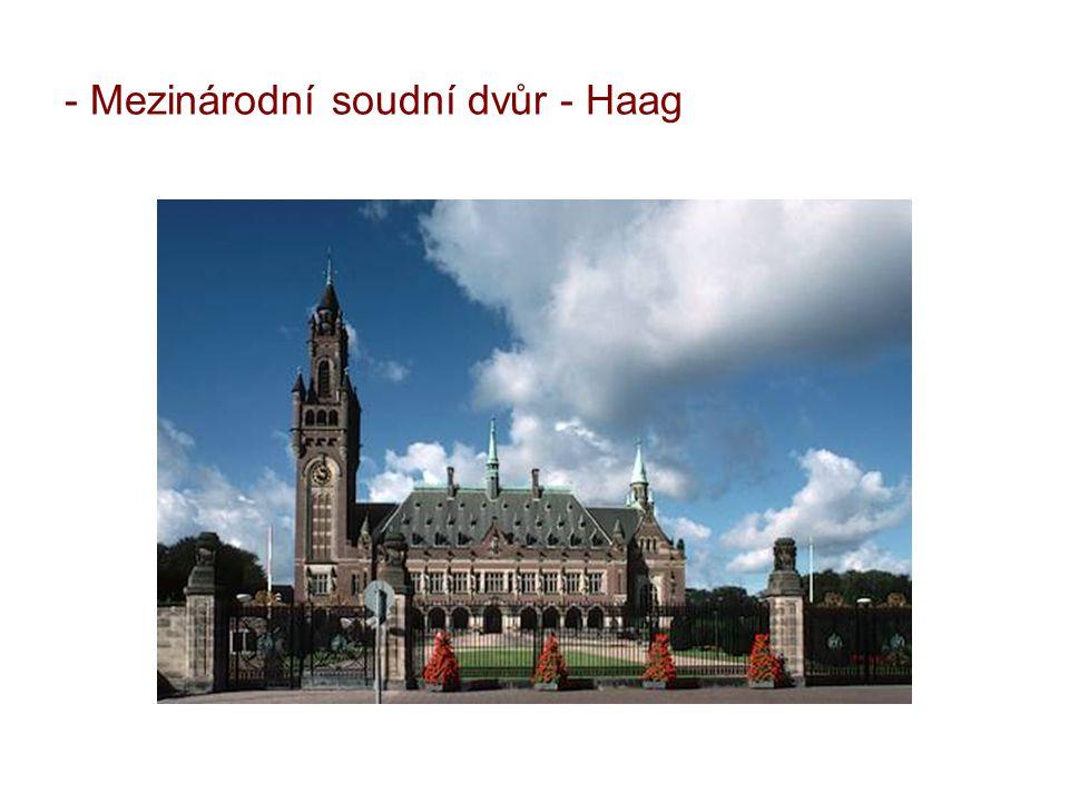 Mezinárodní soudní dvůr - Haag