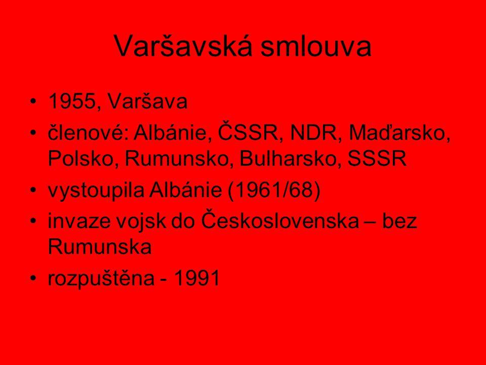 Varšavská smlouva 1955, Varšava