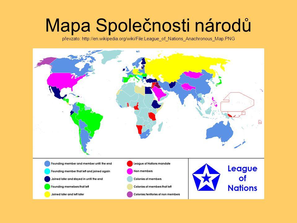 Mapa Společnosti národů převzato: http://en. wikipedia