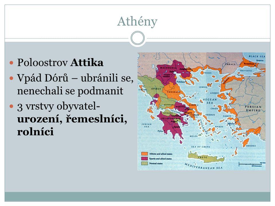 Athény Poloostrov Attika