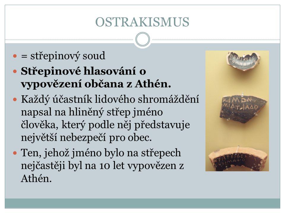OSTRAKISMUS = střepinový soud