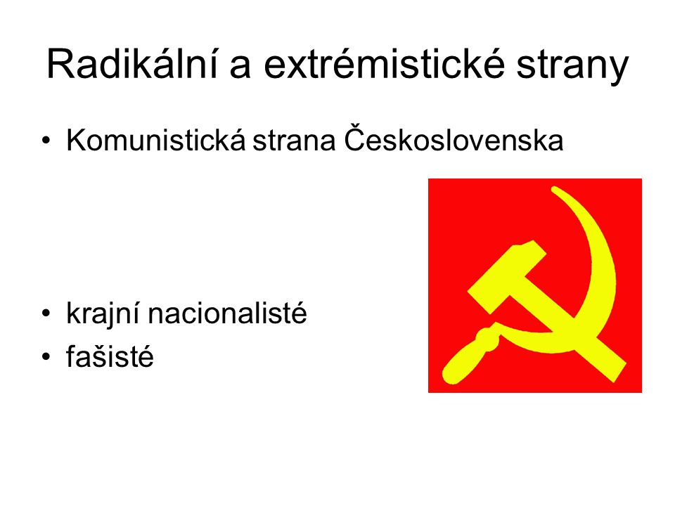 Radikální a extrémistické strany