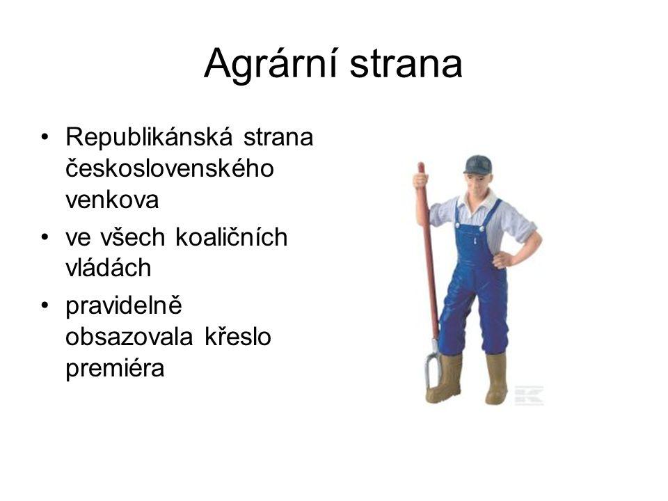 Agrární strana Republikánská strana československého venkova