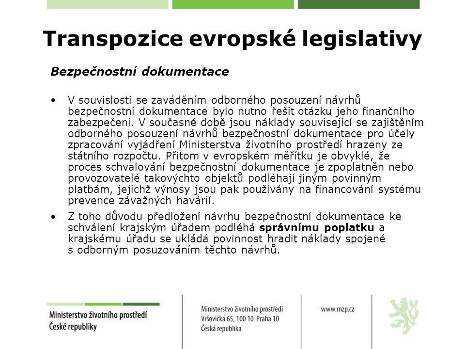 Transpozice evropské legislativy