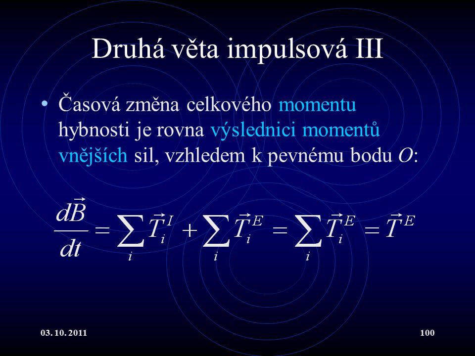 Druhá věta impulsová III