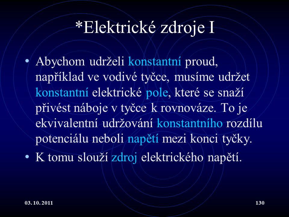 *Elektrické zdroje I