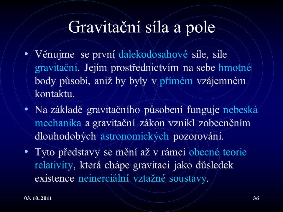 Gravitační síla a pole
