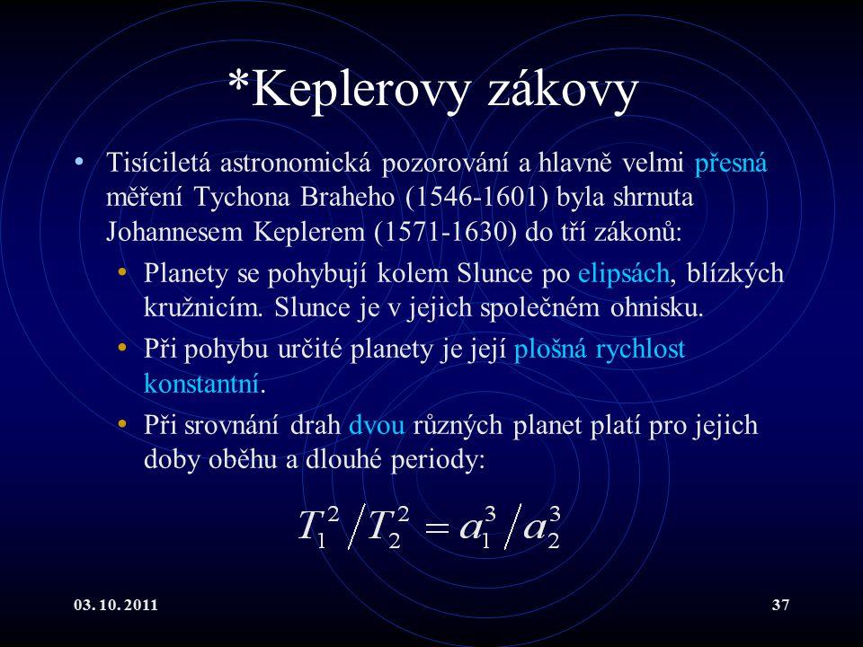 *Keplerovy zákovy