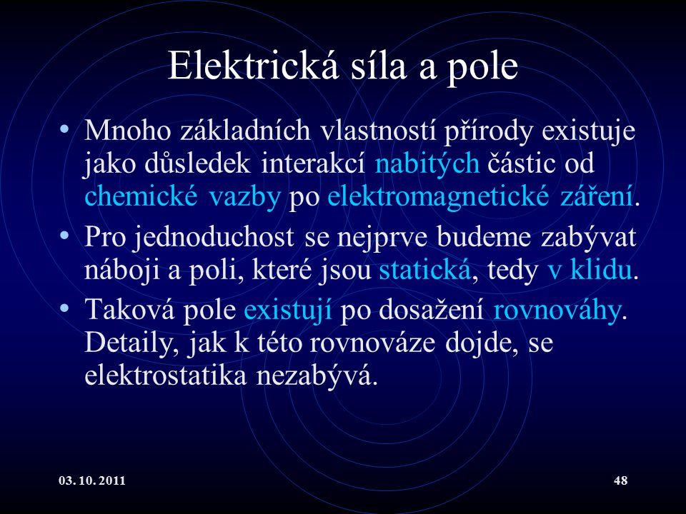 Elektrická síla a pole