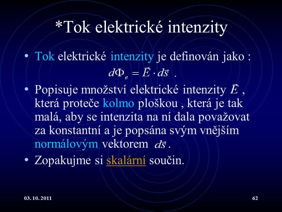 *Tok elektrické intenzity