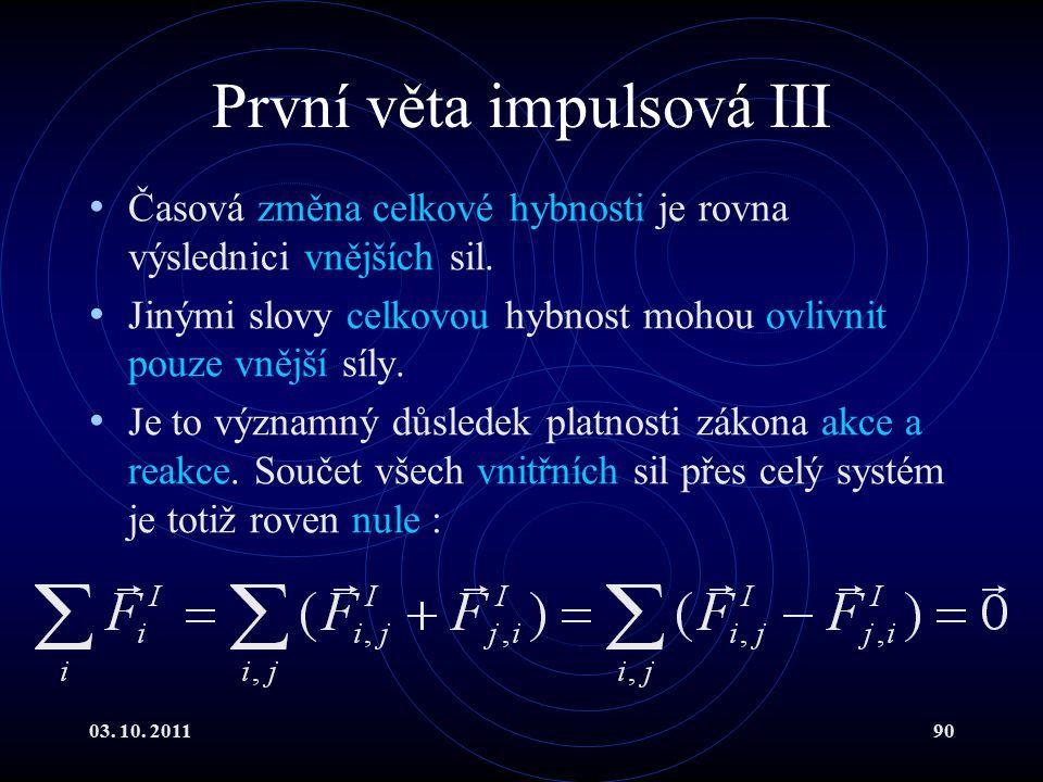 První věta impulsová III