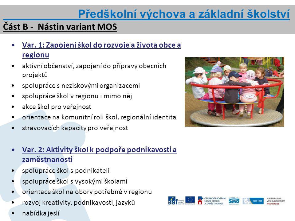 Předškolní výchova a základní školství