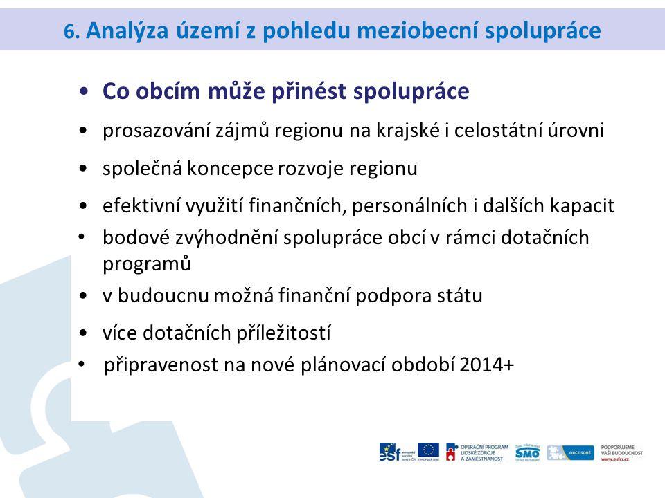6. Analýza území z pohledu meziobecní spolupráce