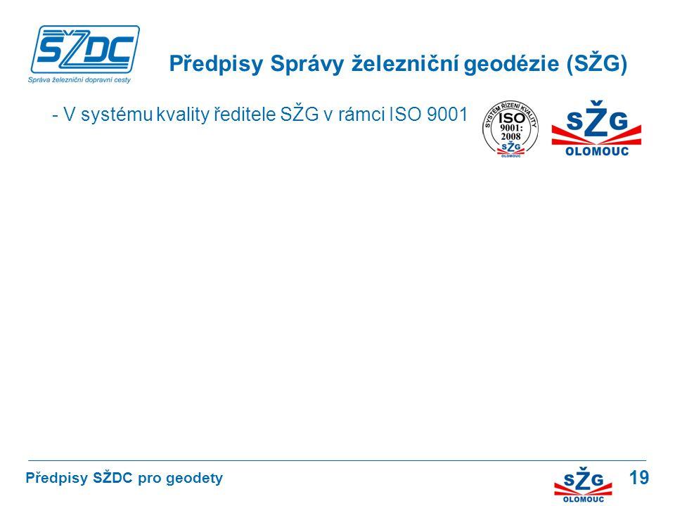 Předpisy Správy železniční geodézie (SŽG)