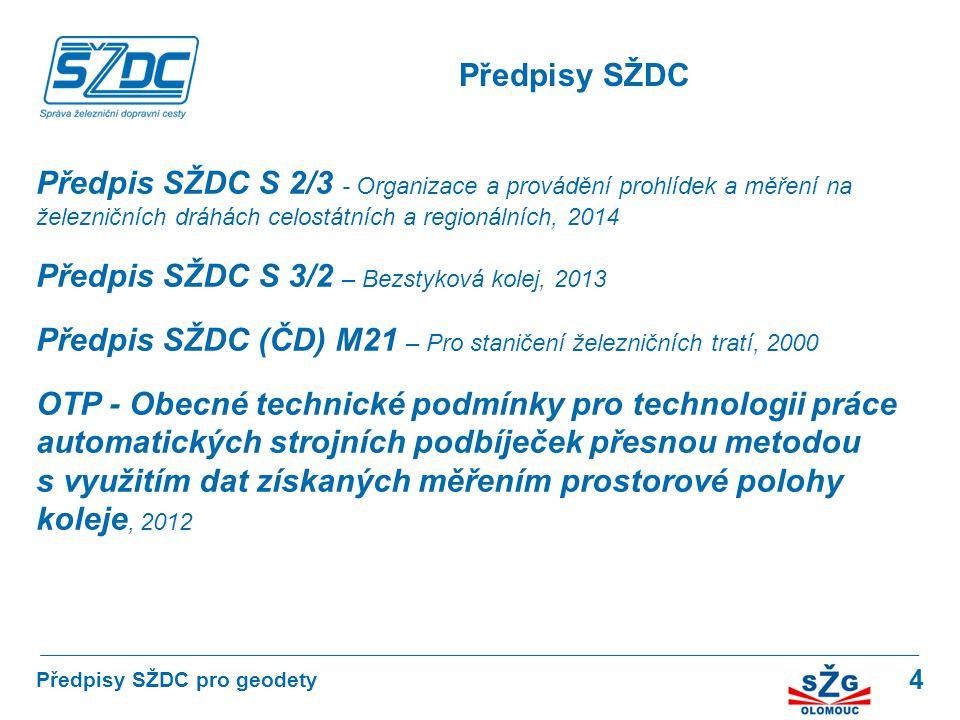 Předpis SŽDC S 3/2 – Bezstyková kolej, 2013