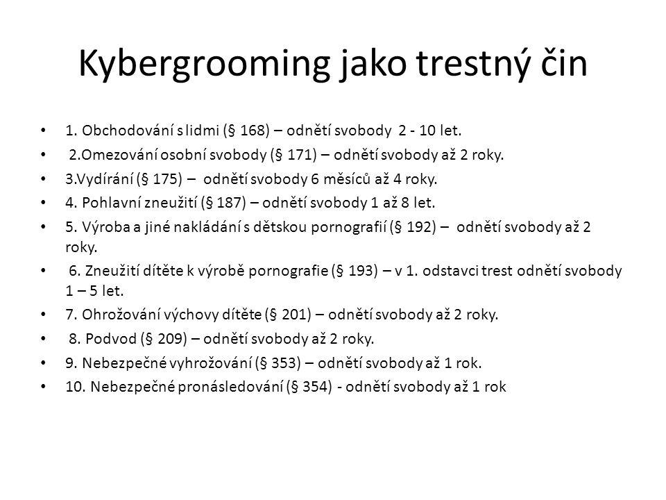 Kybergrooming jako trestný čin