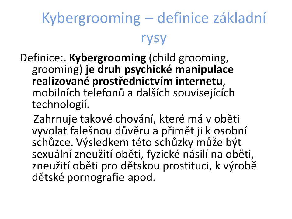 Kybergrooming – definice základní rysy