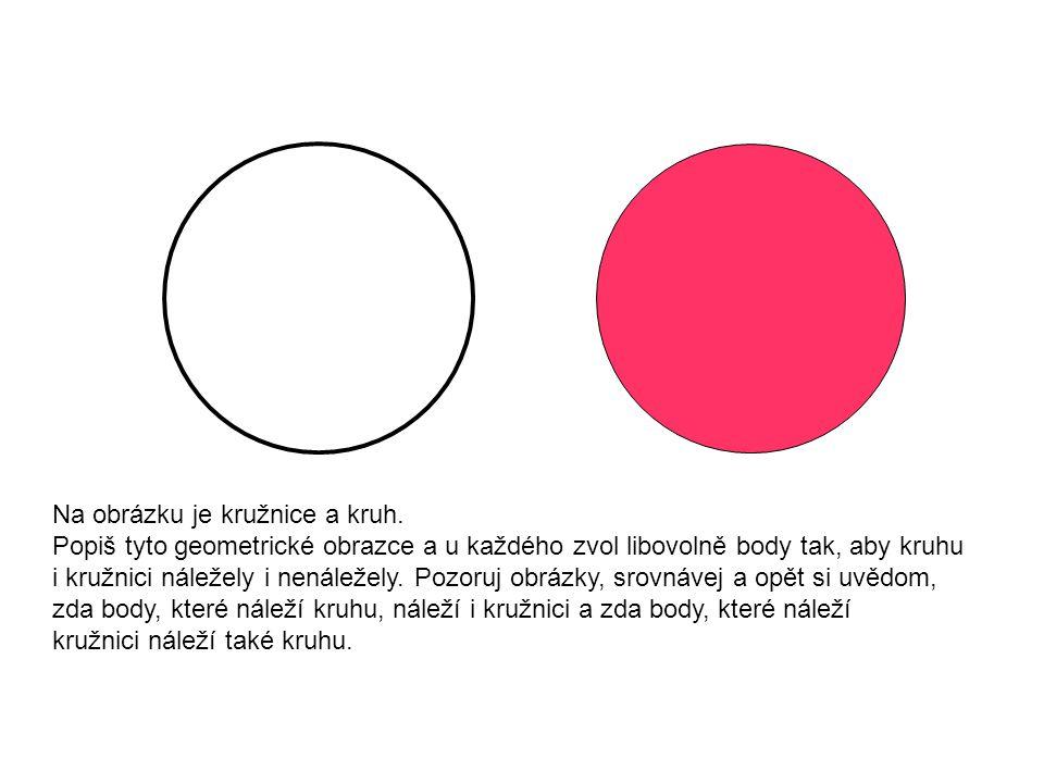 Na obrázku je kružnice a kruh.