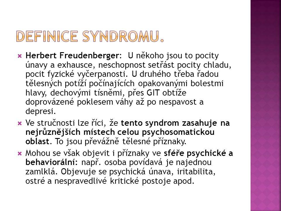 Definice syndromu.