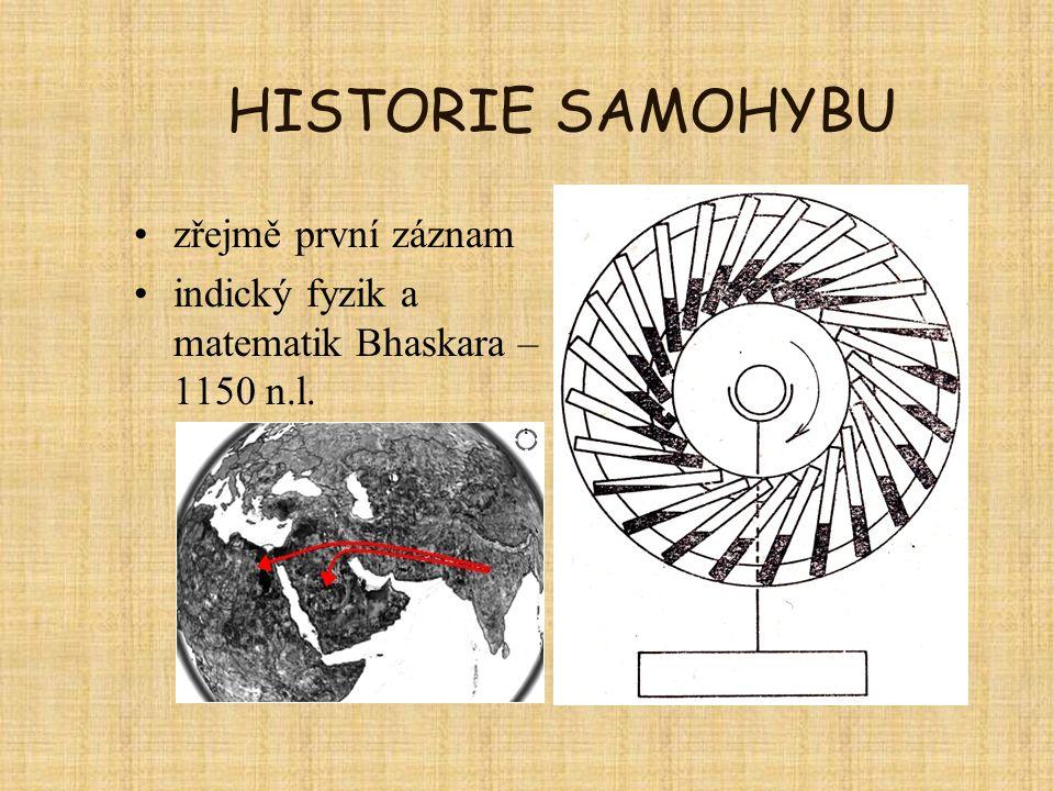 HISTORIE SAMOHYBU zřejmě první záznam
